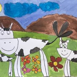Коровы врозь – тигру радость Сәлім Диана 6 лет