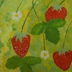 Кормозова Арина 12 лет Первая летняя ягодка